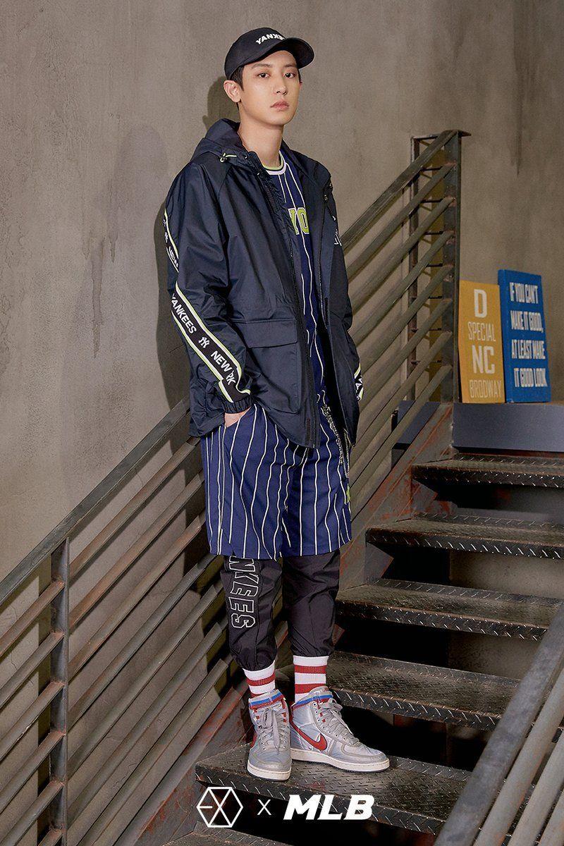 Chanyeol Exo X Mlb Korea Windbreaker Fashion Winter Jackets