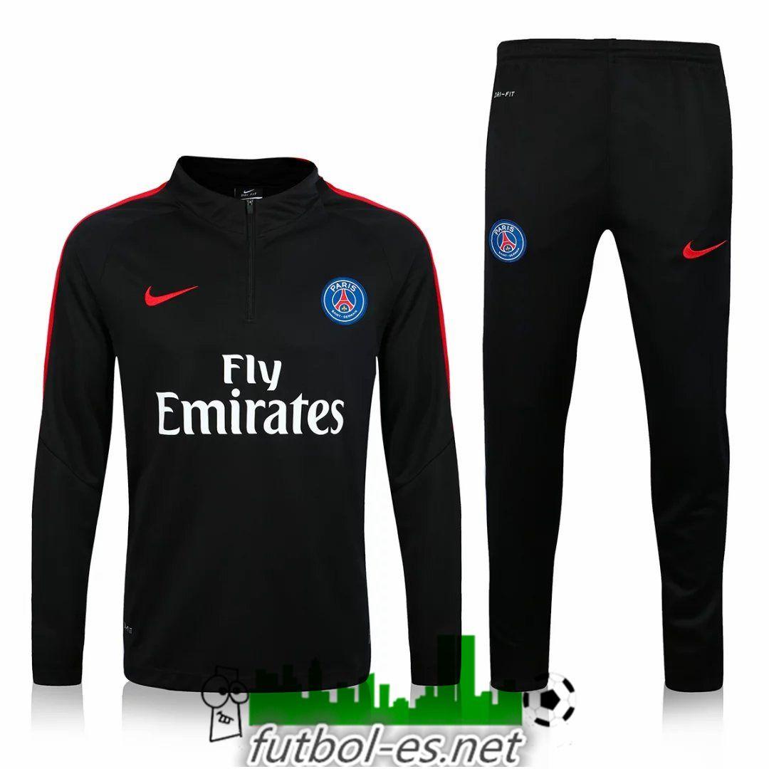 Chandal de futbol Paris PSG negro 2016 2017 personalizadas  f864e0ddecf