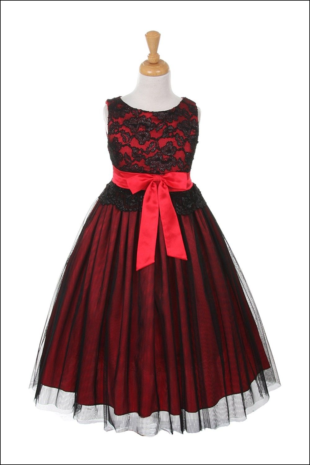 Black and red flower girl dresses dresses and gowns ideas