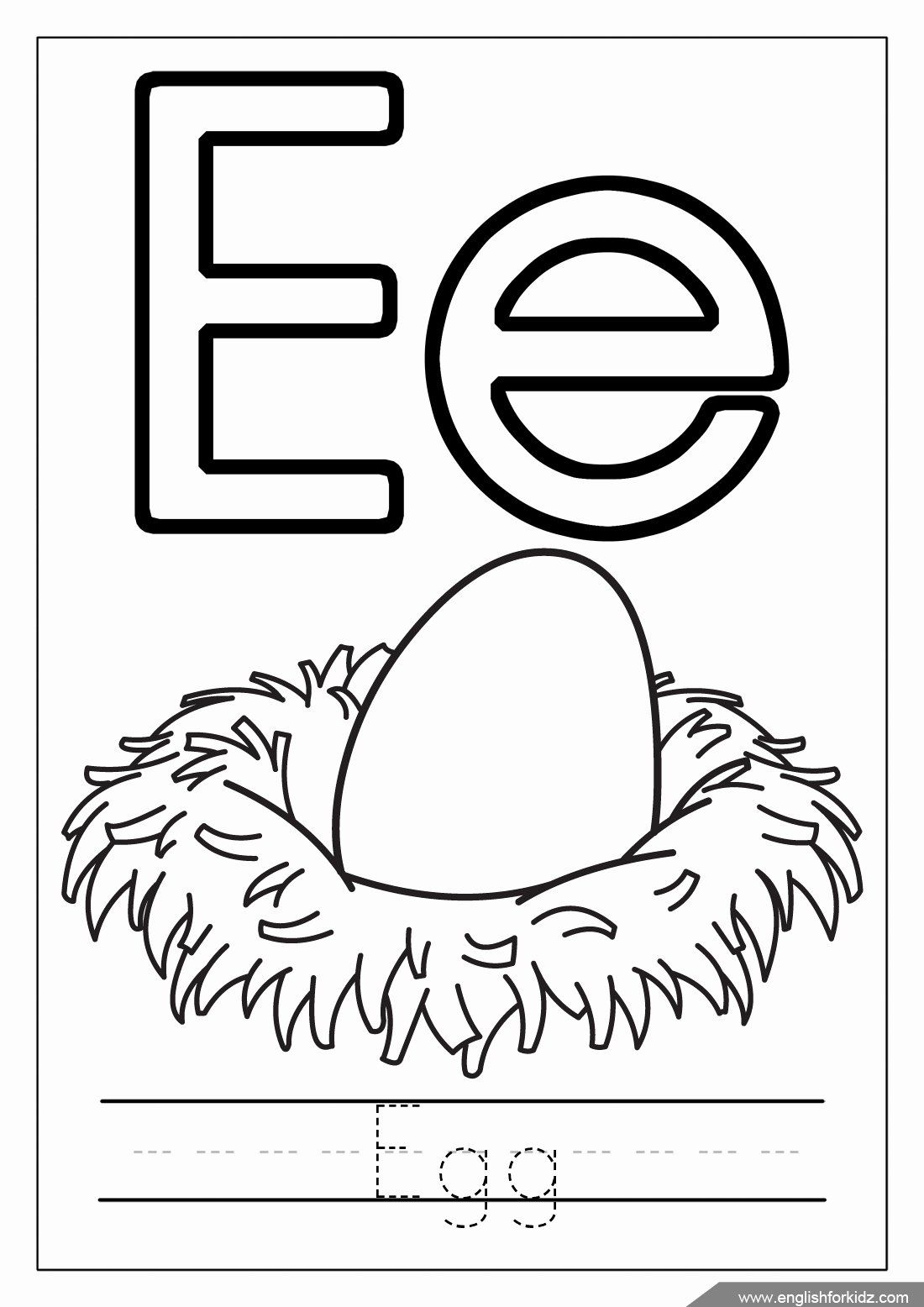 Letter E Coloring Page Luxury Printable Alphabet Coloring