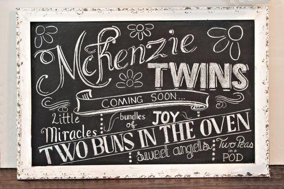 Baby Shower Chalkboard Sign Custom Made & by TreanneSchuttArt, $35.00