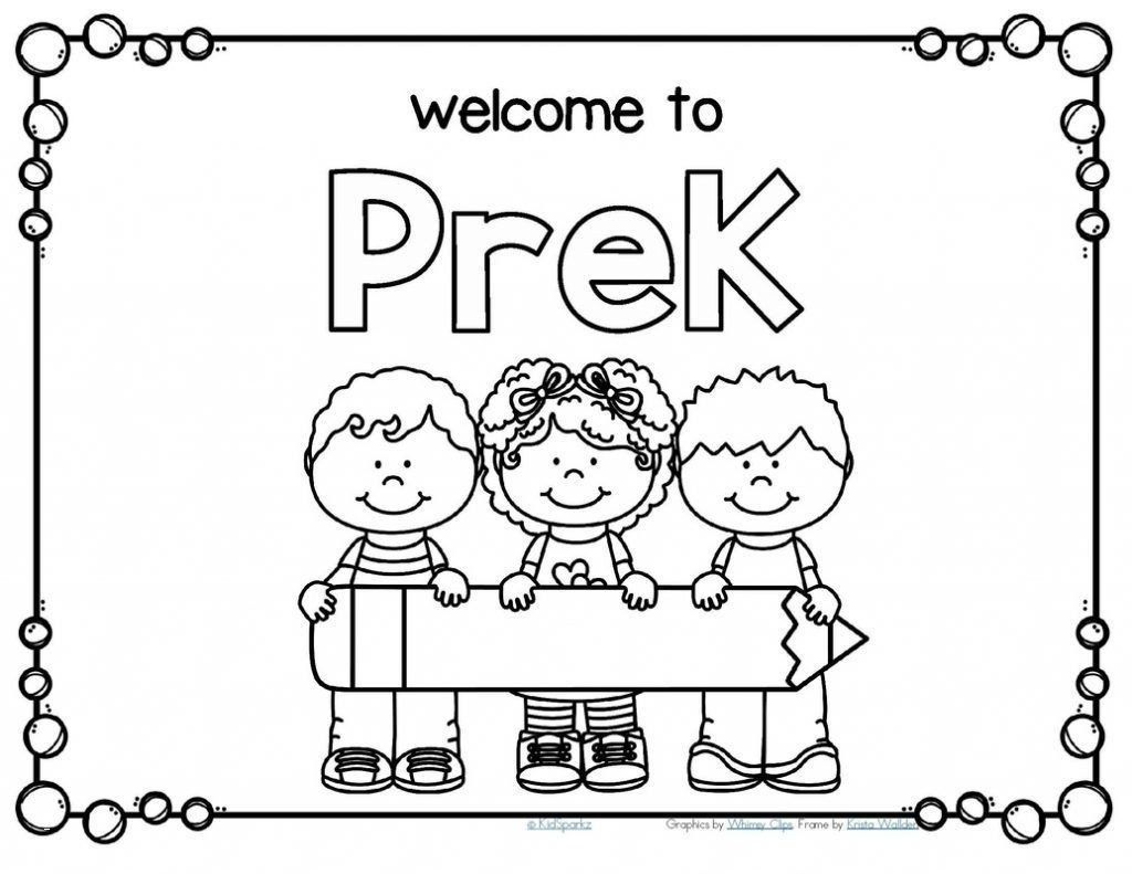 First Day Of Kindergarten Worksheets Wel E Back School
