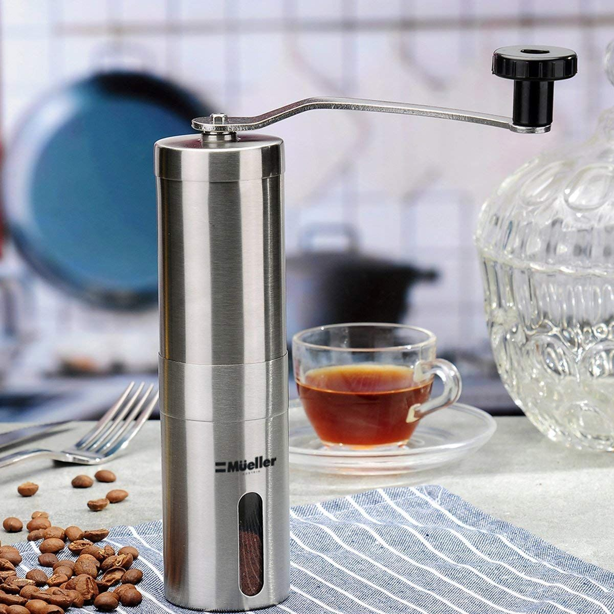Mueller Austria Manual Coffee Grinder Whole Bean Conical