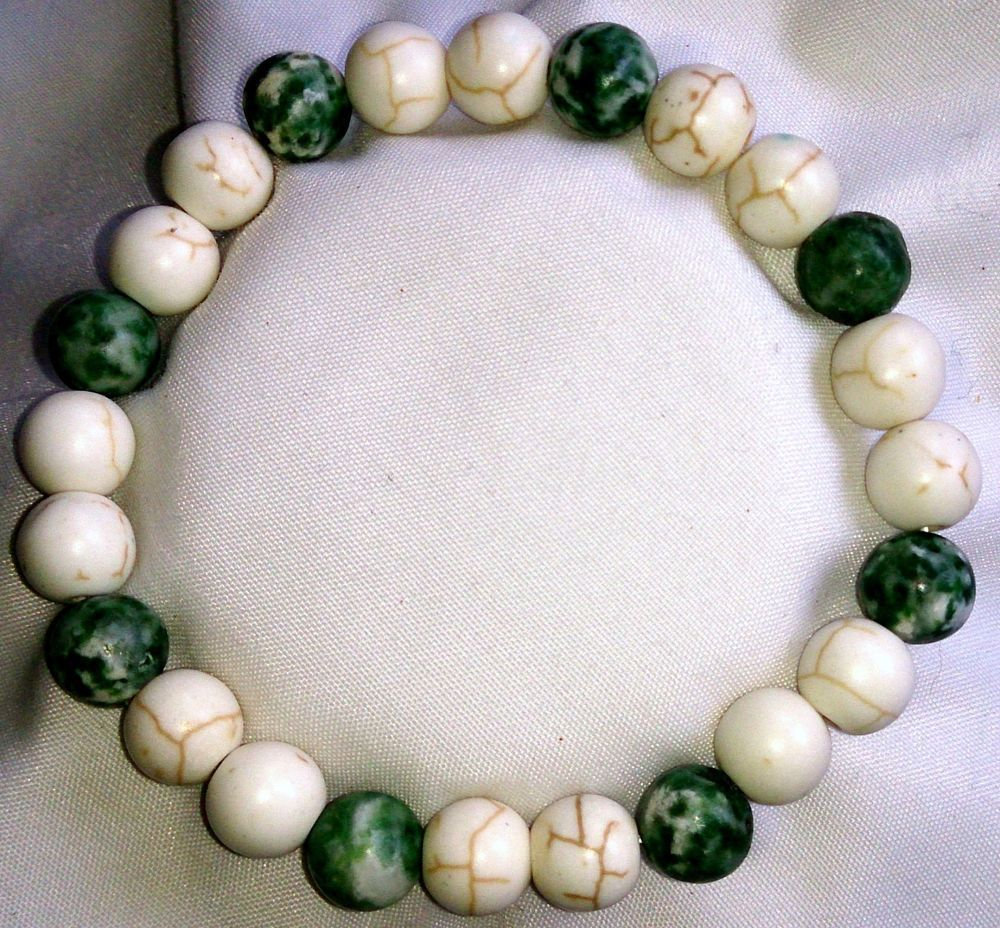 Türkis Jaspis Heilstein Perlen Armband