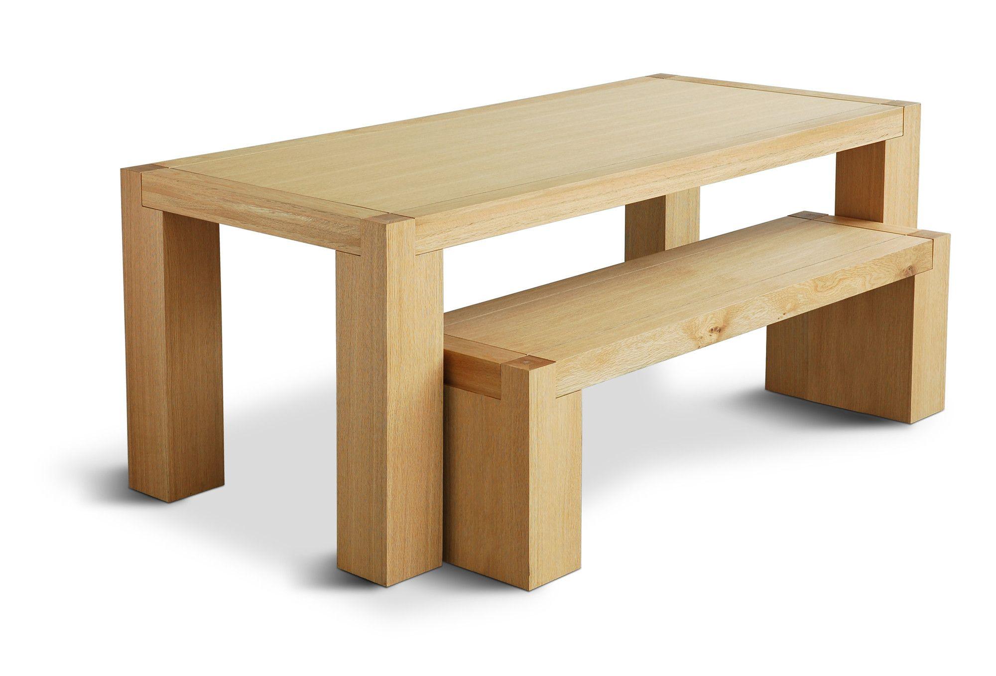 Gus modern chunk dining table