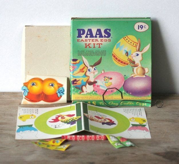 Vintage PAAS Easter Egg Coloring Kit