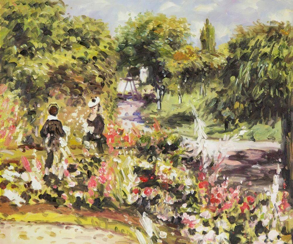 Back In Stock Pierre Auguste Renoir The Garden At Fontenay Pierre Auguste Renoir Renoir Pierre