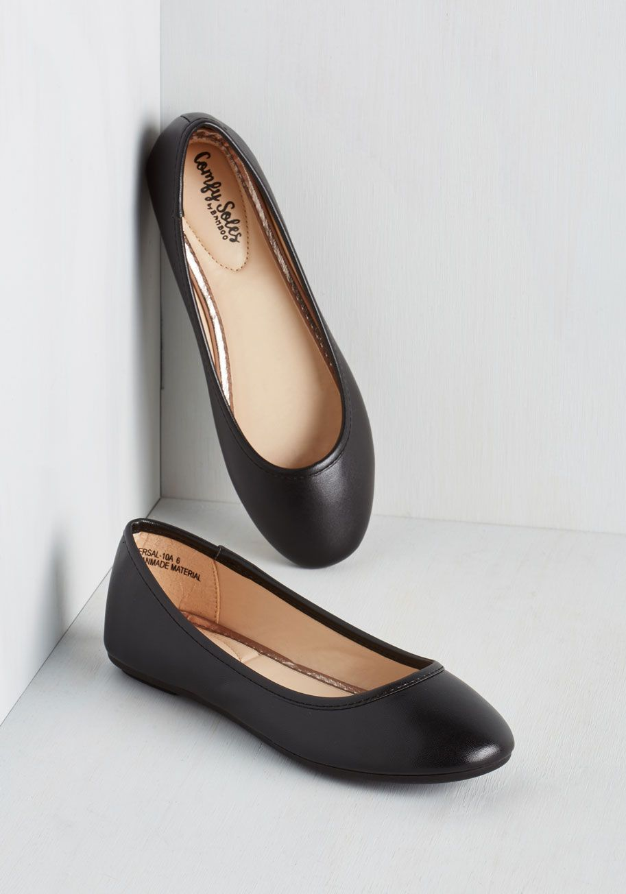 fa3f64490 Awesome All Over Again Flat in Black. When it comes to trusty footwear, it  doesnt get much better than simple black ballet flats. #black #modcloth