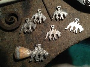 #Thylacine pendants #TasmanianTiger # Tiger #cuttlefishCast #silverCharms
