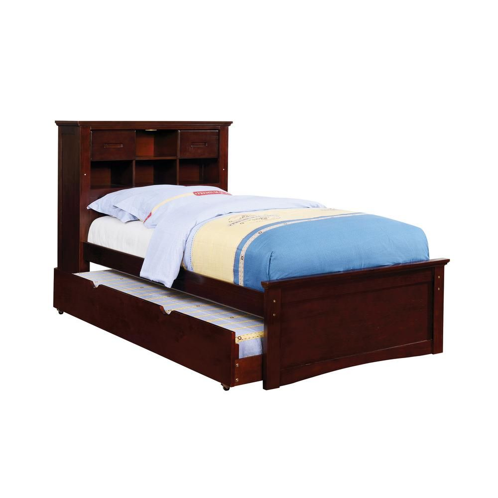 William S Home Furnishing Pearland In Dark Walnut Twin Size Bed In