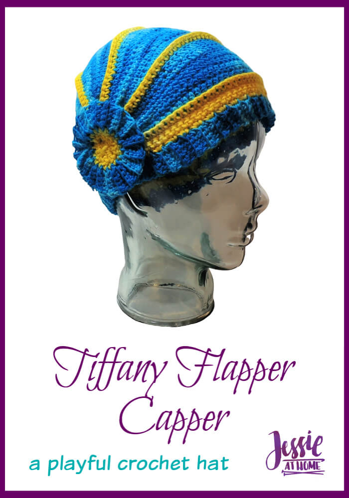 Tiffany Flapper Capper – a playful full-coverage hat
