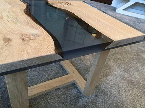 Riviere De Votre Table De Bois Et De Resine Epoxy De Chambre Table