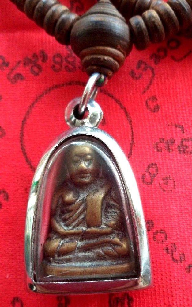 Magic Power Takrut LP TIM Holy Power Rare Charm Thai Amulet Power Holy Pendant