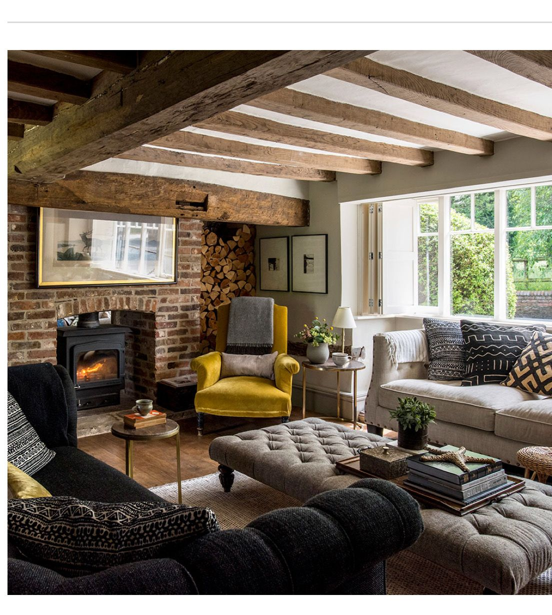 Exceptional More Modern Take On The Cottage Vibe Country Living Room Rustic, Cottage  Style Living Room