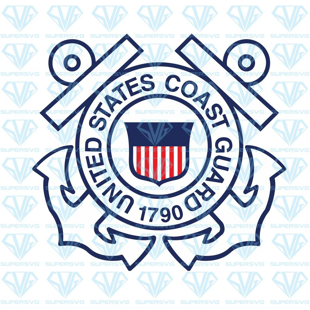 Flag Of The United States Coast Guard Svg Files For Silhouette Files For Cricut Svg Dxf Eps Png Instant Download Supersvg Logo Silhouette Svg Coast Guard Logo