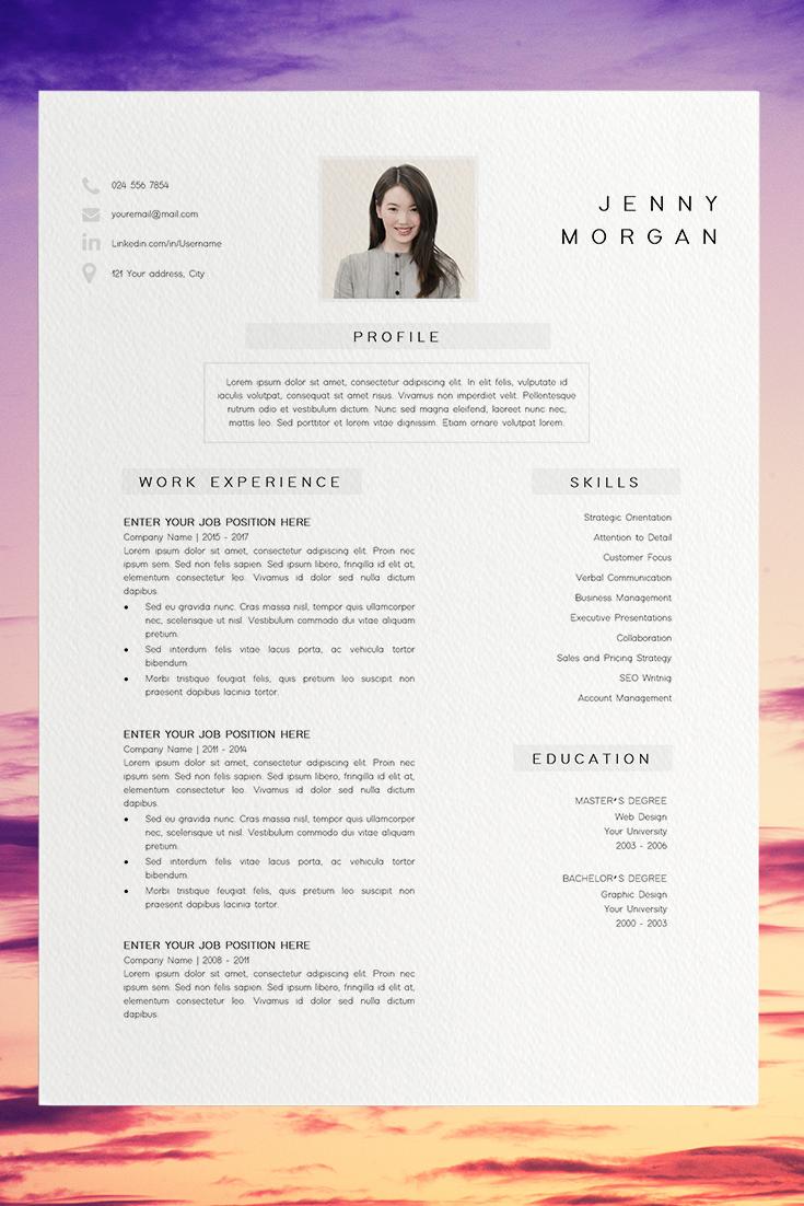 Simple Cv Template Word Resume With Photo Template Resume Minimalist Creative Resume Design Free Resume Template Resume Pages In 2021 Resume Design Creative Resume Design Free Simple Resume Template