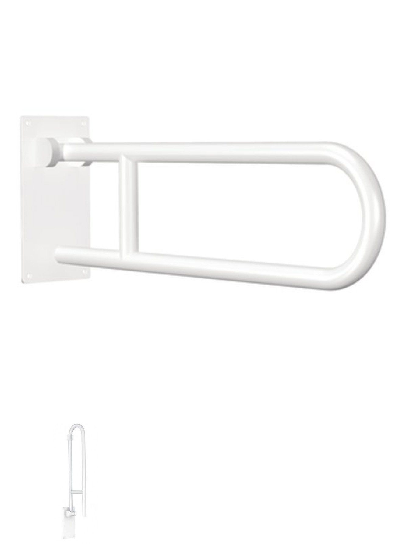 Handles and Rails: Handicap Shower Bars White Bathroom Safety ...