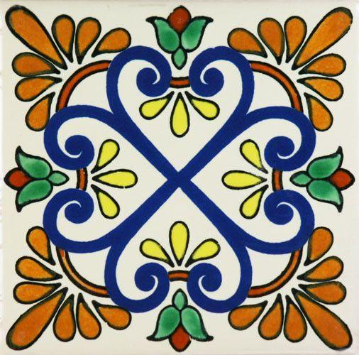 Spanish Decorative Tile Especial Decorative Tile  Zacatecas Ii  Tile Design Mexicans