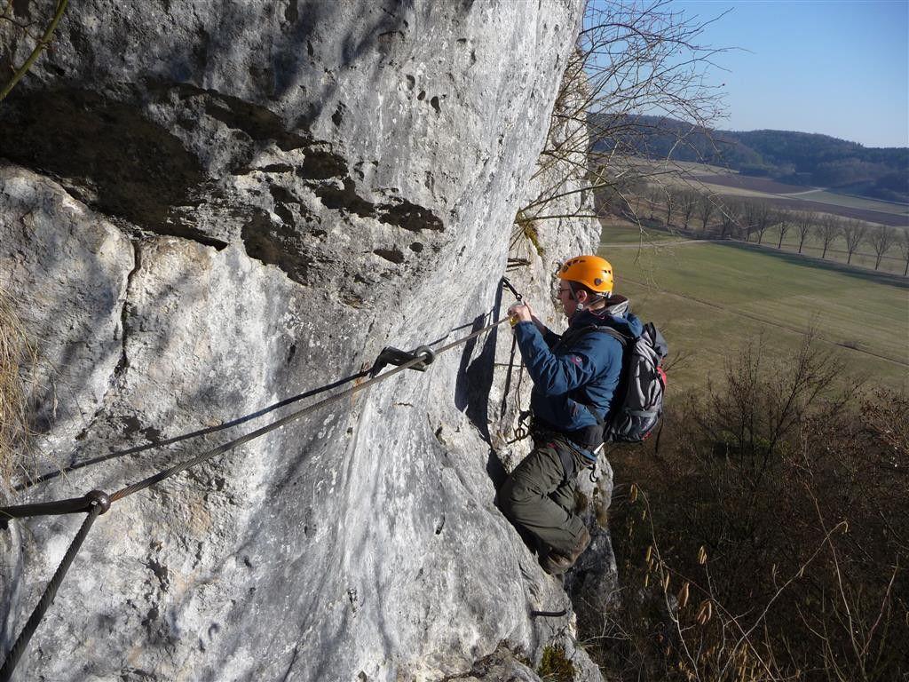 Klettersteig Bavaria : Konsteiner klettersteig altmühltal oberlandsteig climbing via