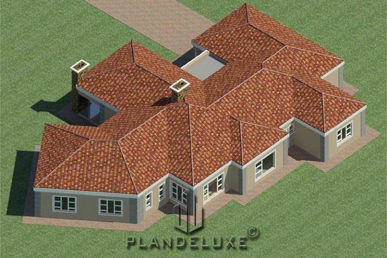5 Bedroom Single Story House Floor Plan Home Designs Plandeluxe Single Storey House Plans House Plans For Sale Bedroom House Plans