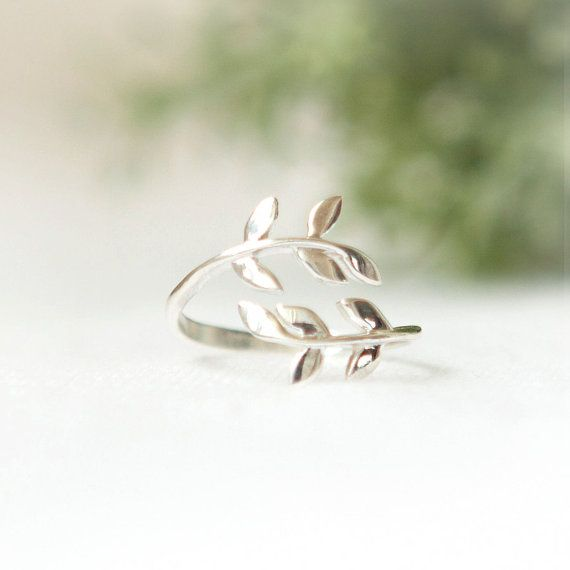 Leaf+ring+in+sterling+silver+by+laonato+on+Etsy,+$29.00