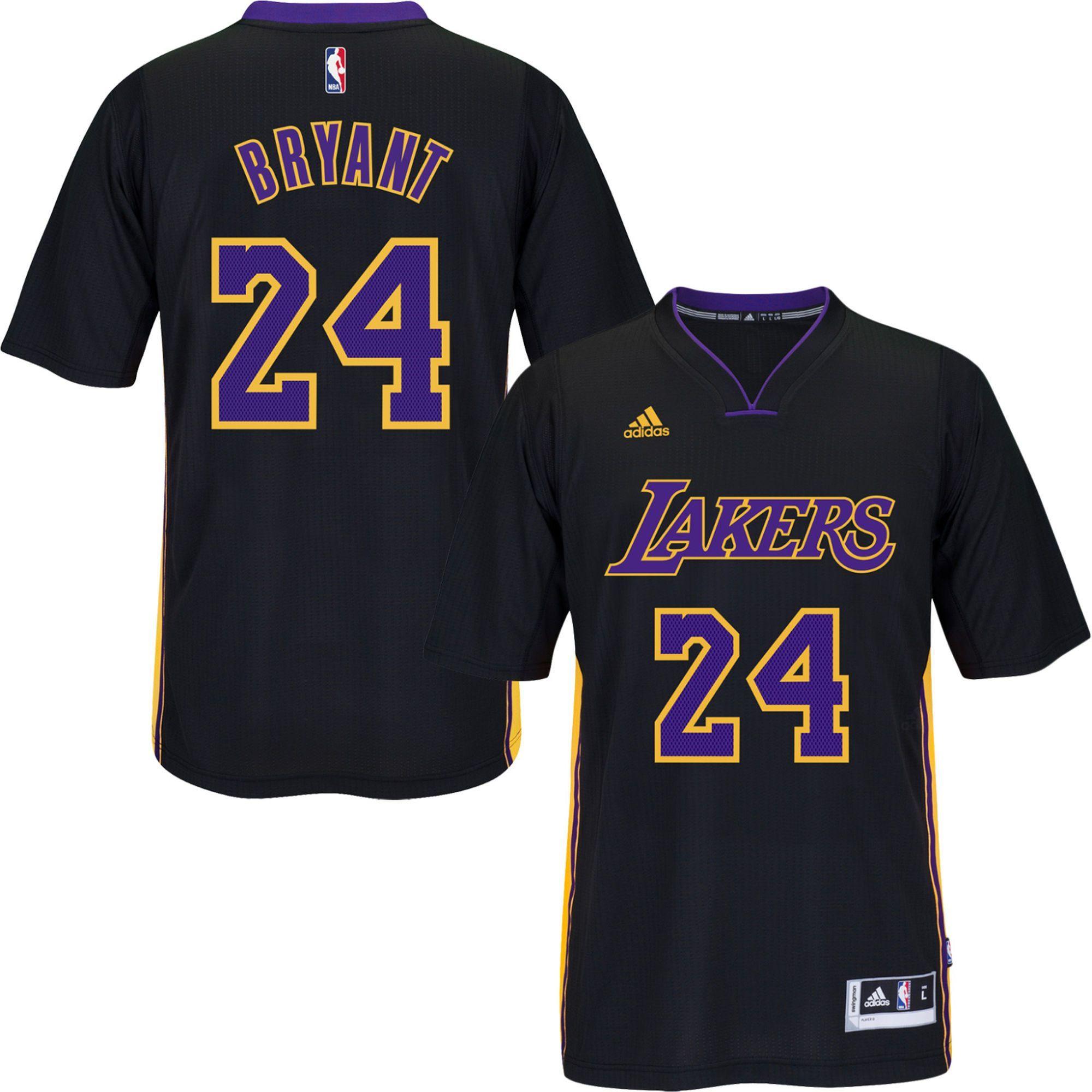 LA Lakers Kobe Bryant  24 Hollywood Night Black Jersey Sleeve ... e51b196e2