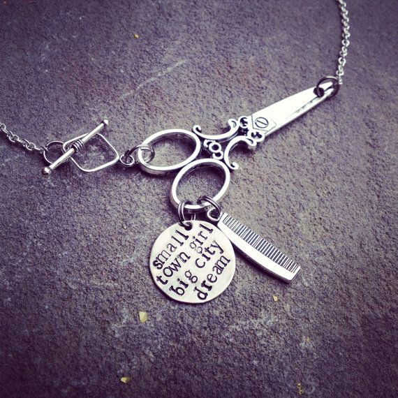 personalized hand stamped scissors necklace by SoBeautifullyBroken @meghanlaine  @loriterry