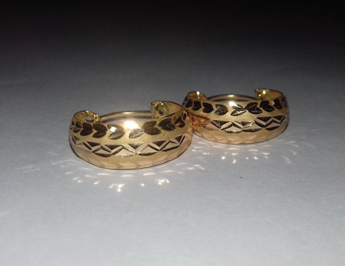 19d3e7c1a2fdc 21k handmade gold hoop earrings ## | Just WOW in 2019 | Earrings ...