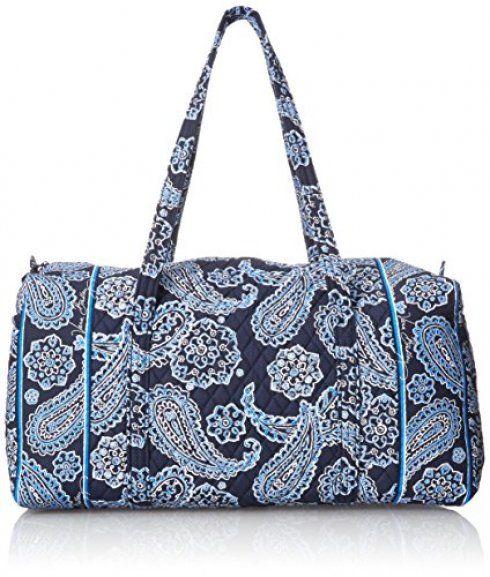 New Blue Bandana Vera Bradley Top Handle Bag Large Duffel Offer Date ...