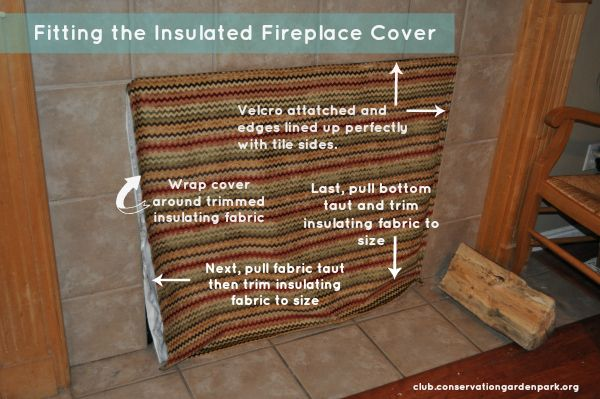 DIY Insulating Fireplace Cover: Jordan Valley Home