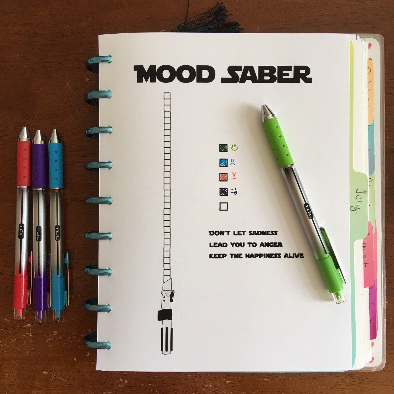 Mood Saber / Light theme Mood tracker / Bullet Journal / Refill / Insert; Classic 7 x 9.25 - Disc bound Planner PRINTABLE
