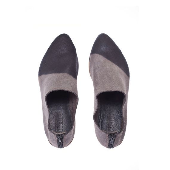 black flats open toe shoes leather shoes black