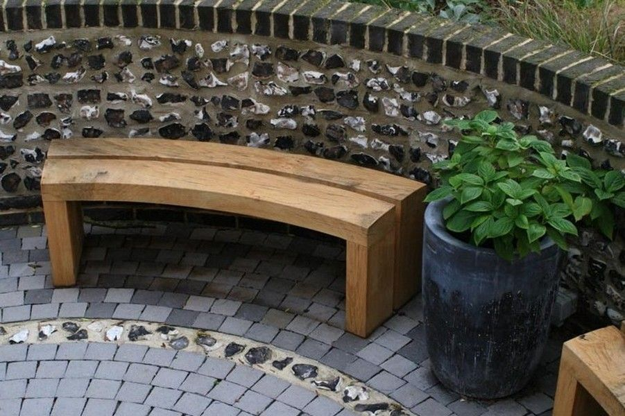 curved garden bench plans landscaping