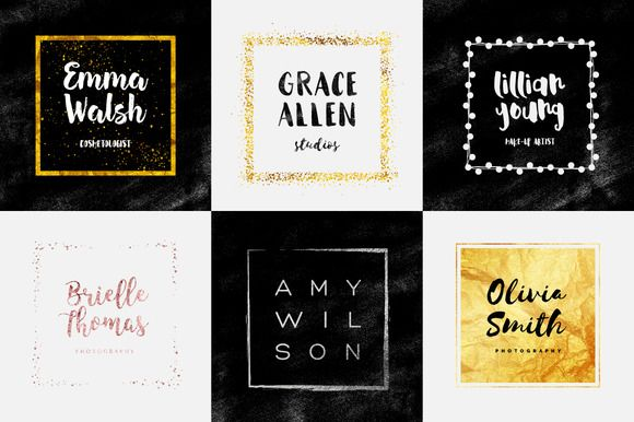 Feminine Logo Creator Square Edition by Worn Out Media Co. on @creativemarket