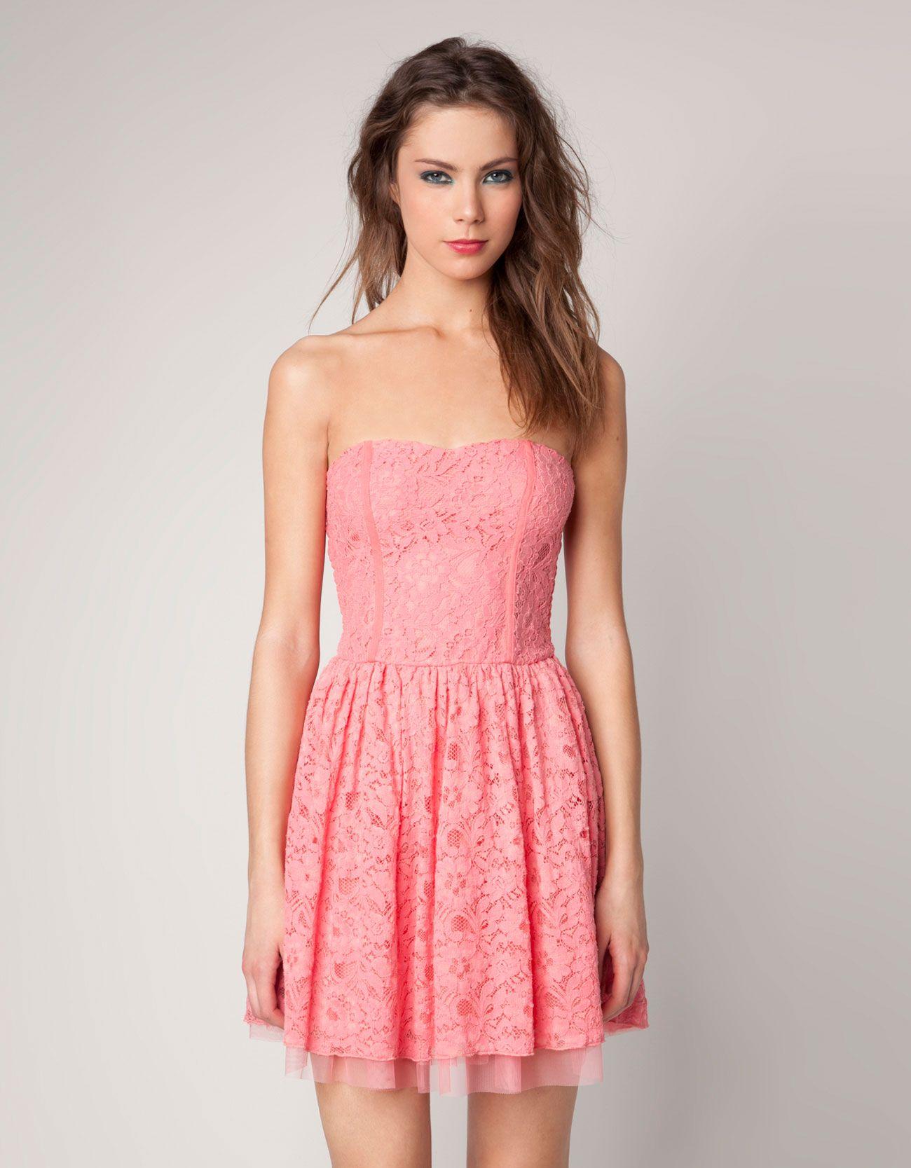 pink lace dress | dresses | Pinterest | Me encantas, Encanta y Bershka