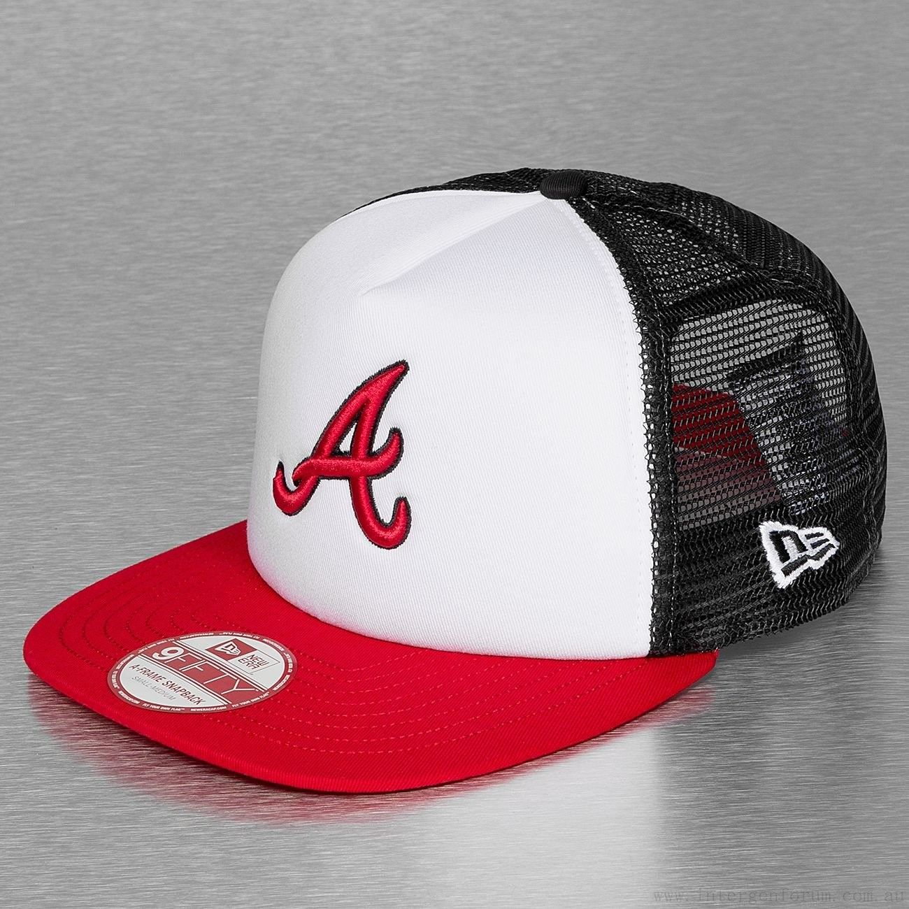 cheap for discount fca5c 0e720 New Era Teammesh Atlanta Braves 9Fifty Trucker Cap Official Team Color  80001077