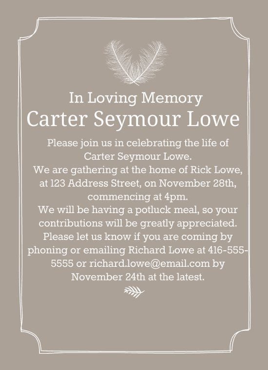 39 best funeral reception invitations celebration of life
