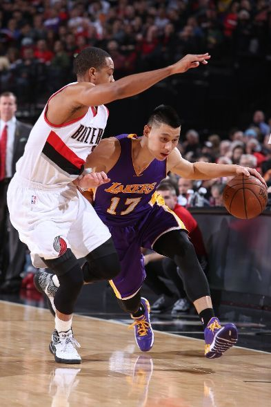 Los Angeles Lakers Vs Portland Trail Blazers Photos February 11 2015 Espn Lakers Vs Portland Trailblazers Jeremy Lin