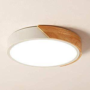 Gmxop Nordico Rund LED Deckenleuchte Deckenlampe Holz