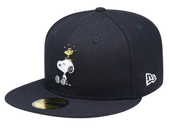 d39956606341 Navy Snoopy Woodstock 59Fifty Fitted Cap