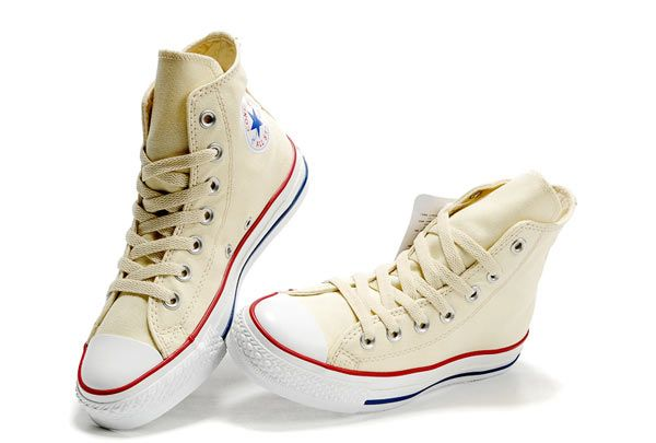 Beige Converse High Tops Chuck Taylor All Star Unbleached White ...