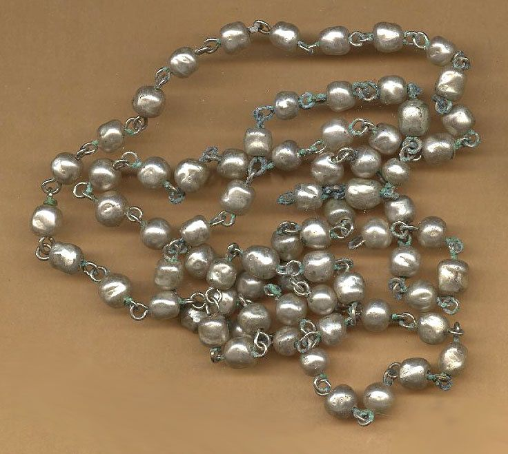 Blue Faux Pearl 6mm Rosary Beads