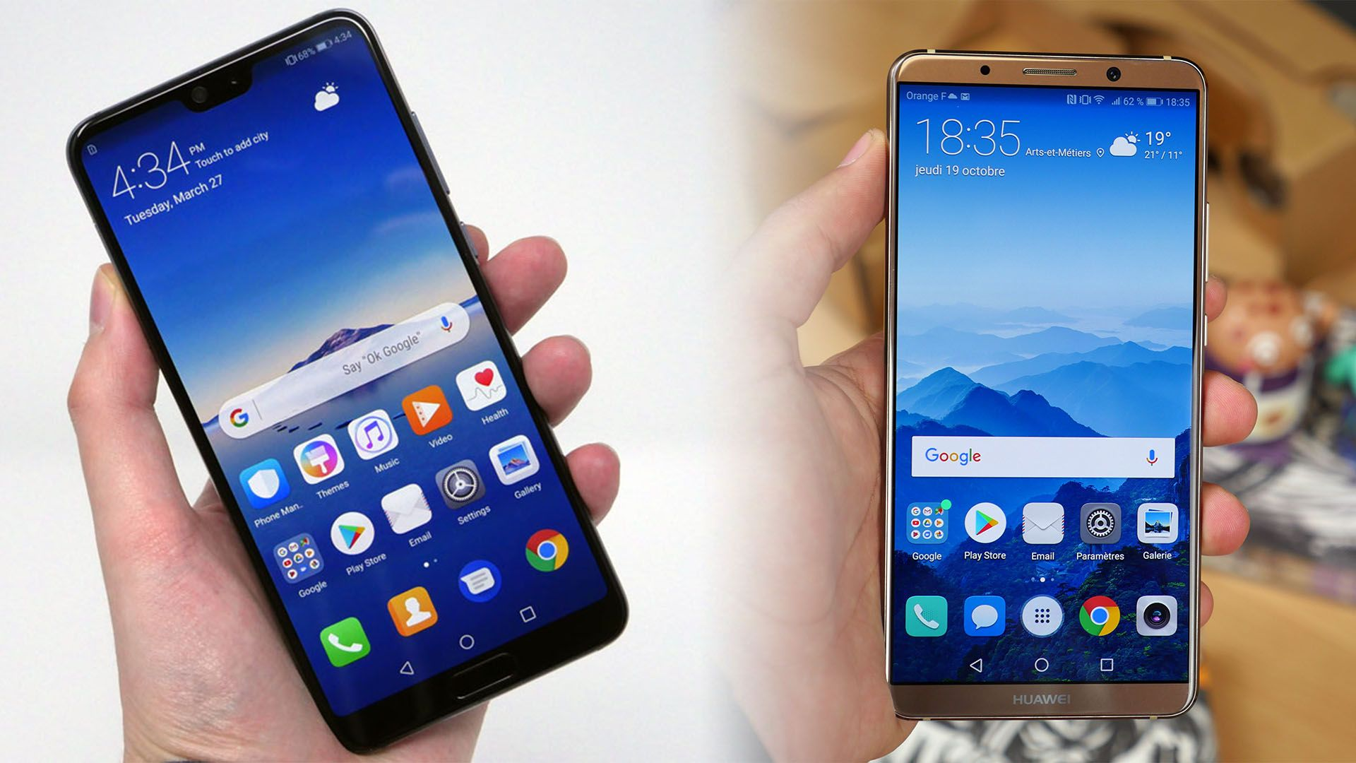 Huawei P20 Pro vs Huawei P20 vs Huawei Mate 10 Pro ment les différencier FrAndroid