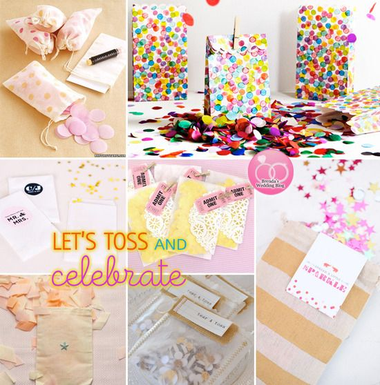 Wedding Confetti Bags Ideas And How To DIY For Celebrating