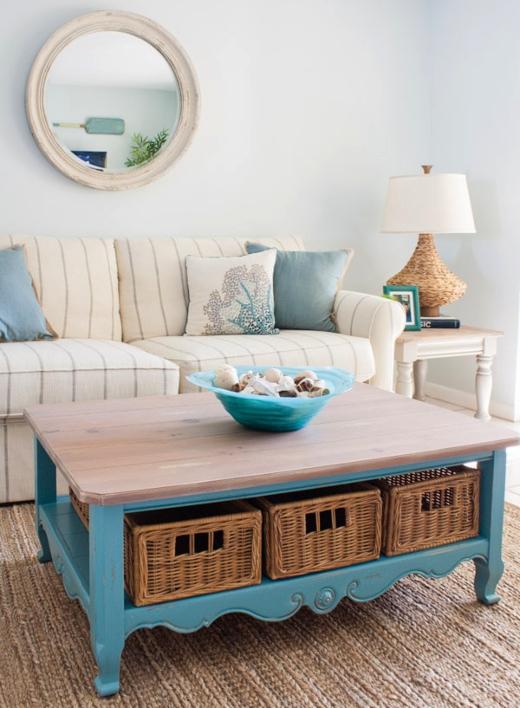 25 Small Cozy Beach Cottage Style Living Room Interior Design & Decor Ideas #beachcottagestyle