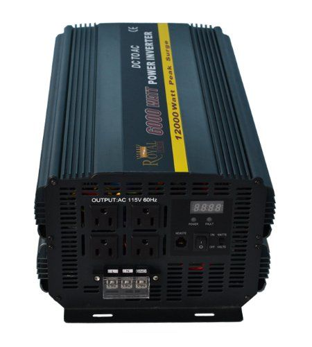 Royal Power Pi6000 24 Power Inverter 6000 Watt 24 Volt Dc To 110 Volt Ac Power Inverters Ac Power Ac Price
