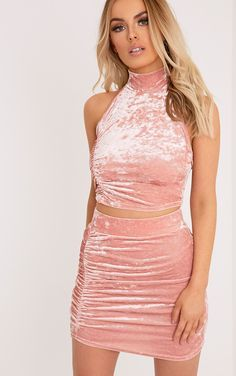 a5cf2a04cc11 Image result for pink velvet dress outfit