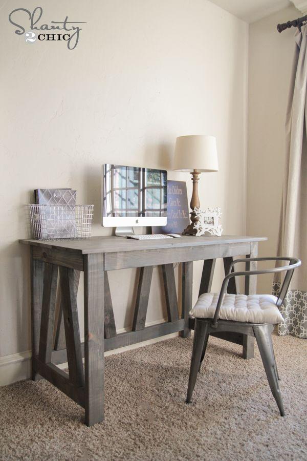 Diy Truss Desk Free Plans Diy Desk Plans Diy Furniture Plans