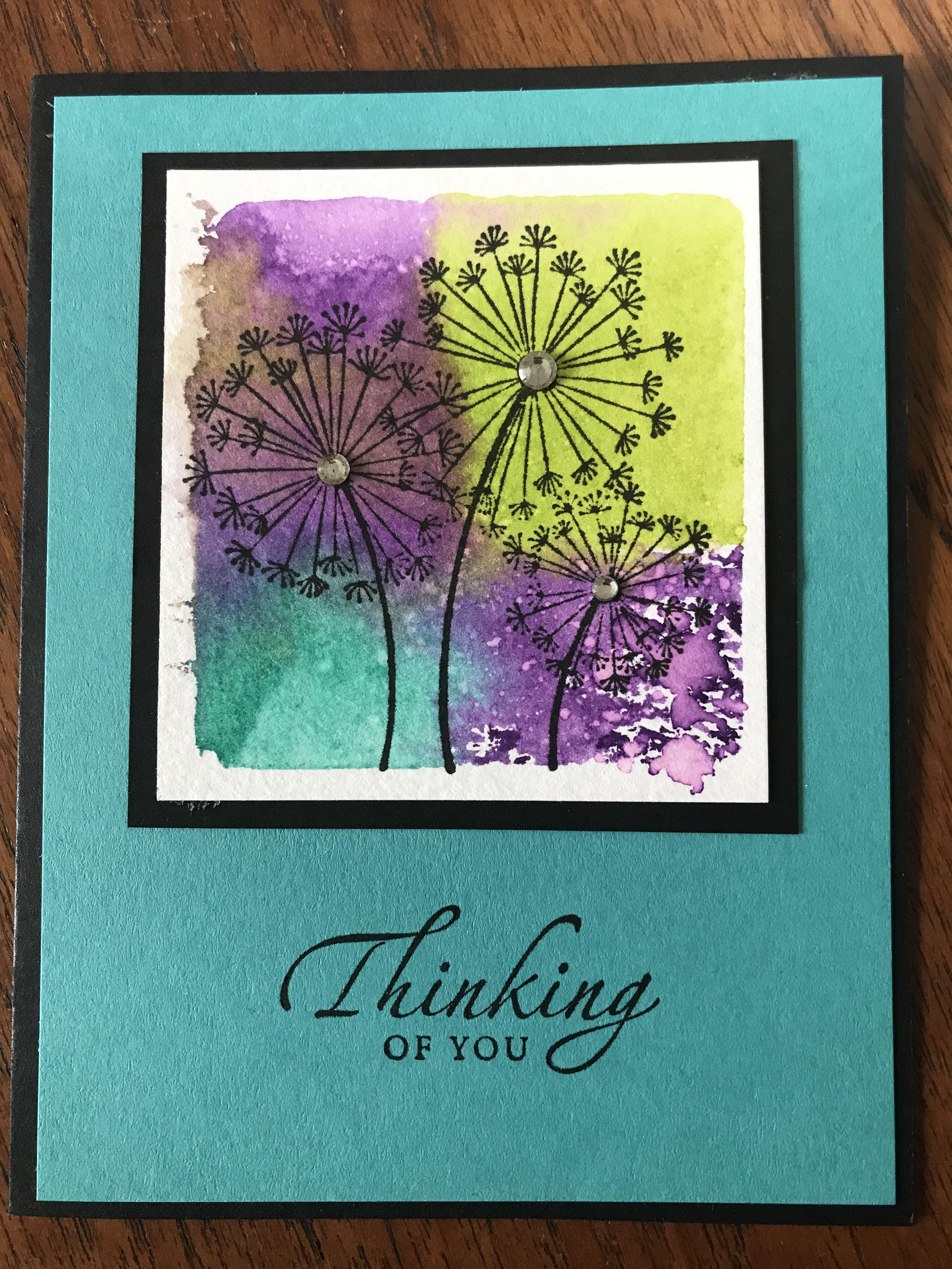 Stampin Up S Dandelion Wishes Floral Cards Stamped Cards Dandelion Wish