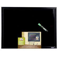 The Board Dudes™ Black Framed, Black Surface Magnetic Dry Erase Board